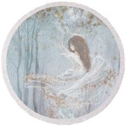 Ghost Of A Rose Round Beach Towel