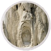 Ghost Of Mammoth Hot Springs Round Beach Towel