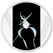 Ghost Orchid Round Beach Towel