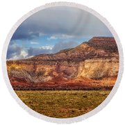 Ghost Ranch Red Round Beach Towel