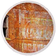 Ghost Sign Round Beach Towel