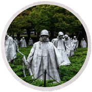Ghost Soldiers Round Beach Towel