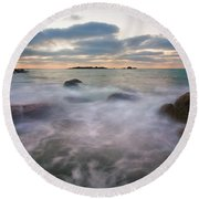 Ghost Tides Round Beach Towel