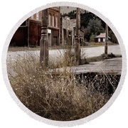 Ghost Town 2 Round Beach Towel