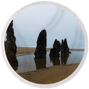 Ghost Trees Of Neskowin  Round Beach Towel