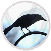 Ghosted Grackle Round Beach Towel