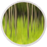 Ghostly Forest Round Beach Towel