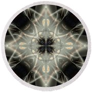 Ghostly Memories Round Beach Towel