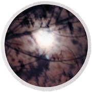 Ghostly Moon Round Beach Towel