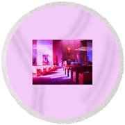 Ghostly Reflections Round Beach Towel