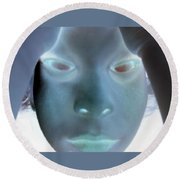 Ghostly You Round Beach Towel