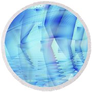Ghosts In The Pool Round Beach Towel