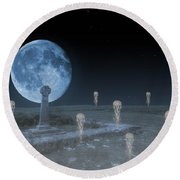 Ghosts On The Common Round Beach Towel