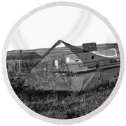 Ghosts On The Prairie Round Beach Towel