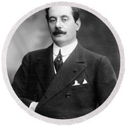 Giacomo Puccini, Italian Composer Round Beach Towel
