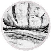 Giant Baked Potato At Elephant Rocks State Park Round Beach Towel by Kip DeVore