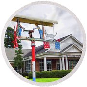 Giant Folk-art Weathervane 1 Round Beach Towel