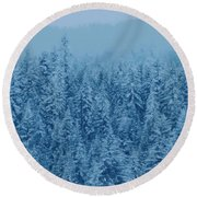 Giant Forest Round Beach Towel