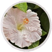 Giant Pink Hibiscus I Round Beach Towel