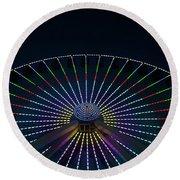 Giant Wheel Ferris Wheel Round Beach Towel
