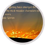 Gibran On The Character Of The Soul Round Beach Towel