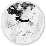 Gibson: Gibson Girl, 1905 Round Beach Towel