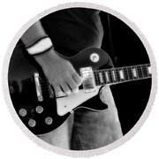Gibson Les Paul Guitar  Round Beach Towel