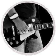 Gibson Les Paul Guitar  Round Beach Towel