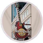 Gibson Les Paul Of The Hard Rock Cafe Round Beach Towel