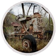 Gibson Tractor Round Beach Towel