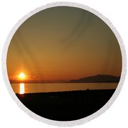 Gibsons Sunset Round Beach Towel