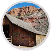 Gifford Homestead Capitol Reef National Park Round Beach Towel