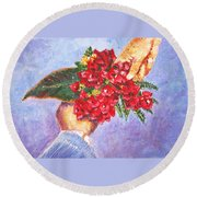 Gift A Bouquet - Bougenvillea Round Beach Towel