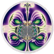 Gift Bows Fractal Abstract Round Beach Towel