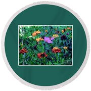 Gift Of Flowers Round Beach Towel
