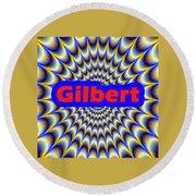 Gilbert Round Beach Towel