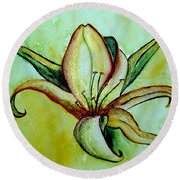 Gilded Lily Round Beach Towel