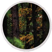 Gilded Visions Round Beach Towel