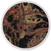 Gilded Wing Round Beach Towel