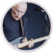 Gilmour #003 By Nixo Round Beach Towel