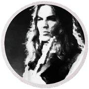 Gilmour #343 By Nixo Round Beach Towel