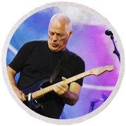 Gilmour Maroon Nixo Round Beach Towel
