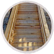Gilpin County Museum Stairs Round Beach Towel
