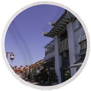 Gin Ling Gifts Los Angeles Round Beach Towel