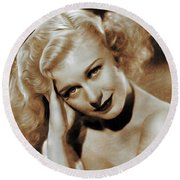 Ginger Rogers, Actress Round Beach Towel