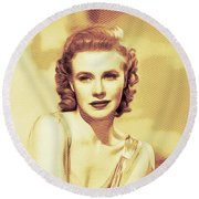 Ginger Rogers, Hollywood Legends Round Beach Towel