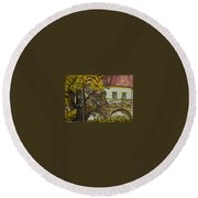 Ginko Round Beach Towel
