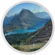 Ginnell Glacier Lake Round Beach Towel