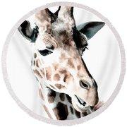 Giraffe II Round Beach Towel