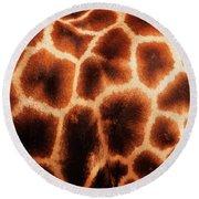 Giraffe Texture Round Beach Towel